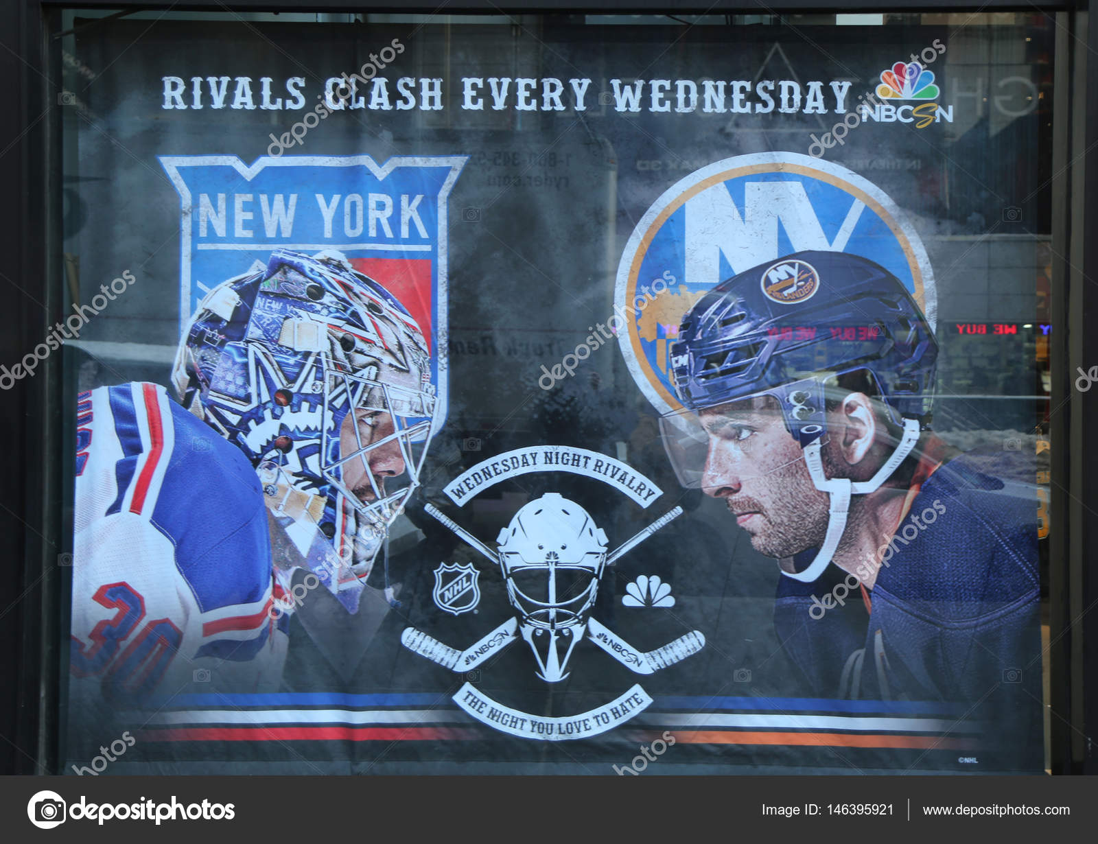 09e2d46dced The NHL shop windows decoration in Manhattan – Stock Editorial Photo ...