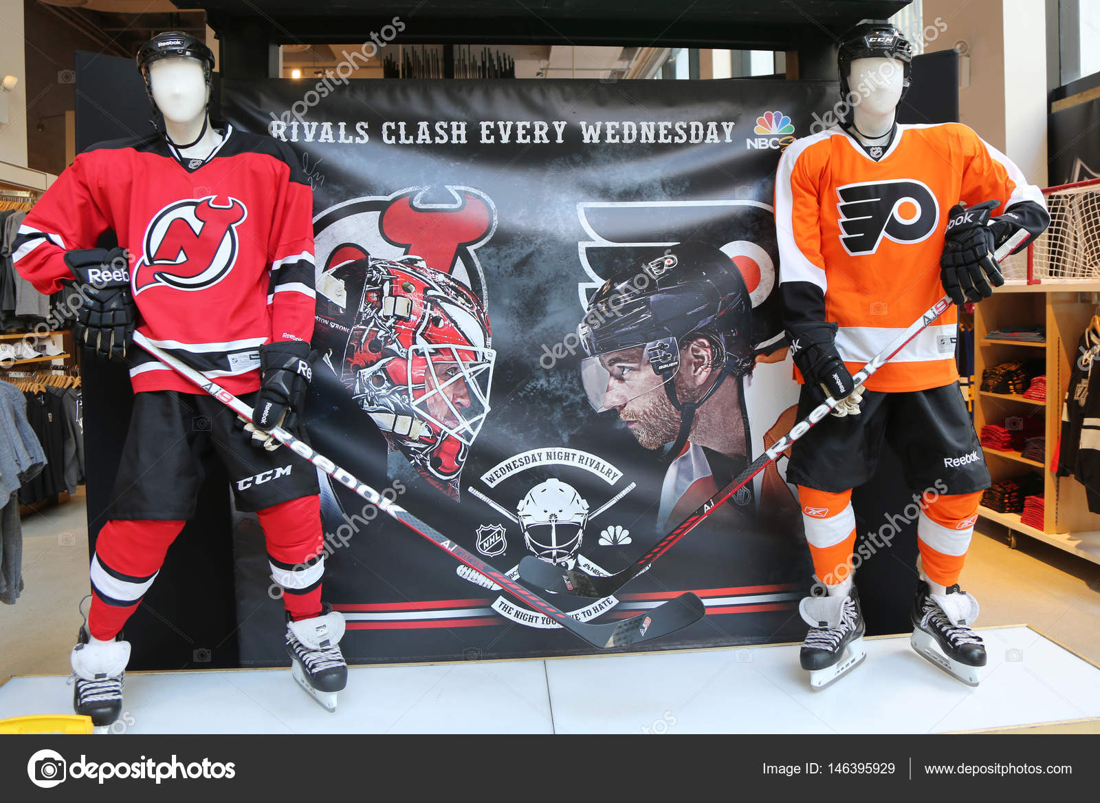 c518325cd95 The NHL shop decoration in Manhattan – Stock Editorial Photo ...