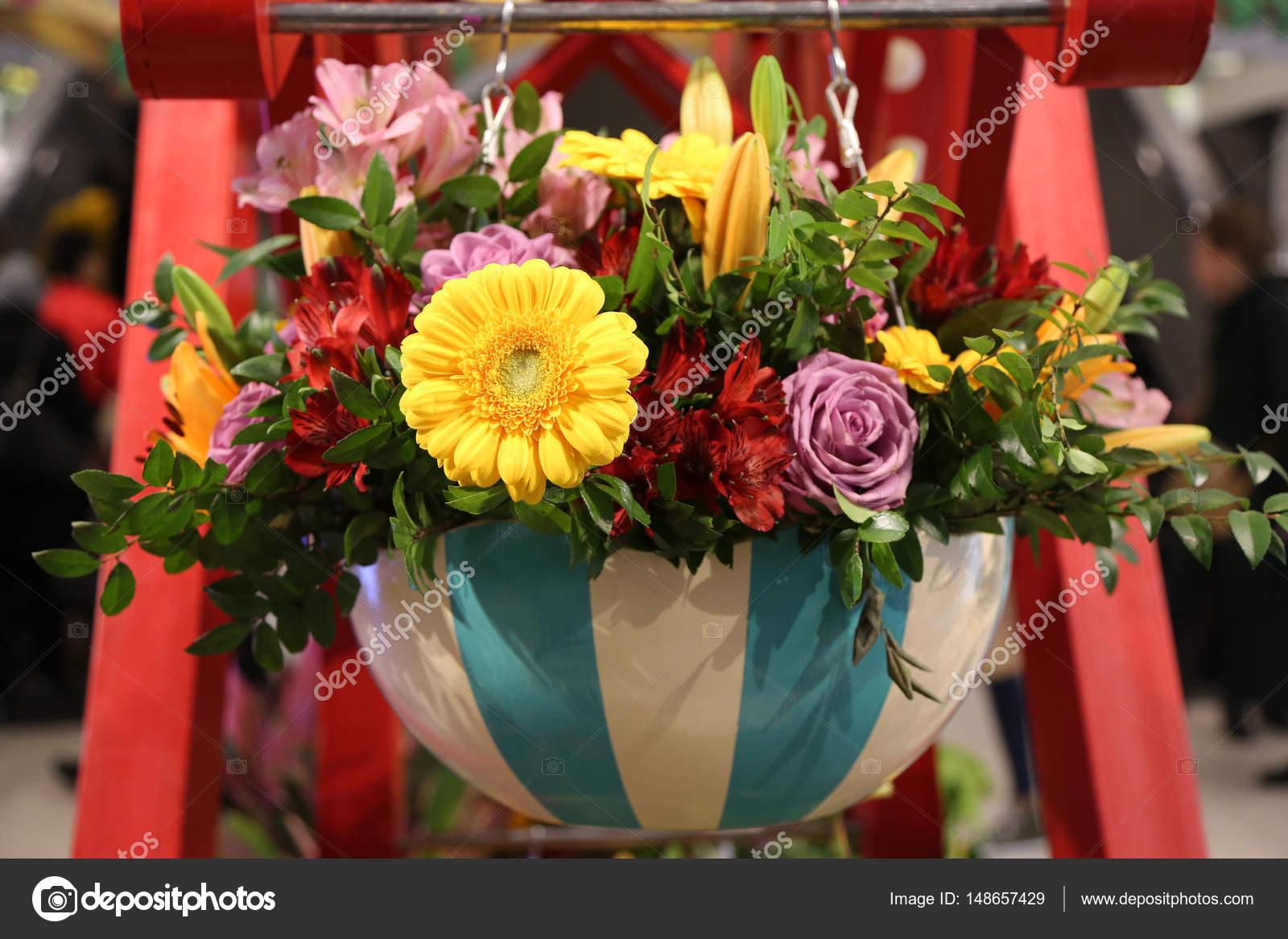 Flower arrangement during famous macys annual flower show in the flower arrangement during famous macys annual flower show in the macys herald square stock photo izmirmasajfo
