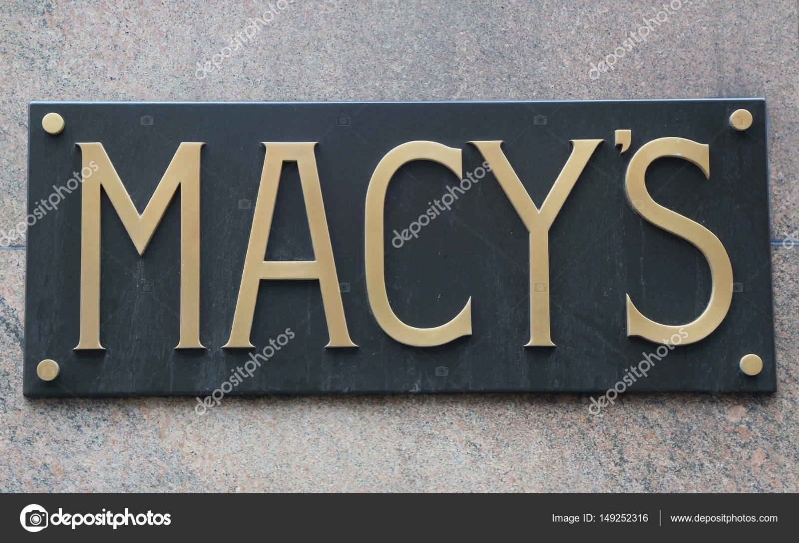 Sign At Macys Herald Square On Broadway In Manhattan Stock
