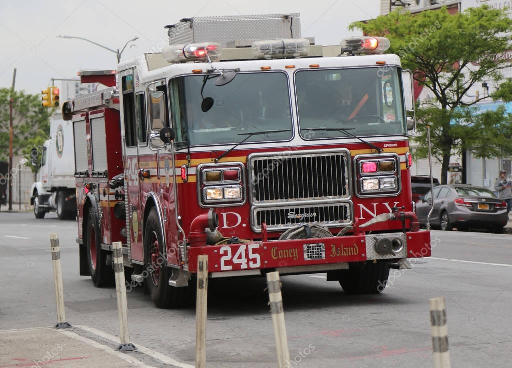 FDNY Engine Company 245 at Coney Island in Brooklyn, NY