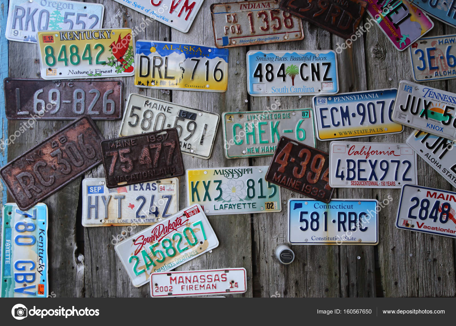 Old car license plates on the wall – Stock Editorial Photo ...