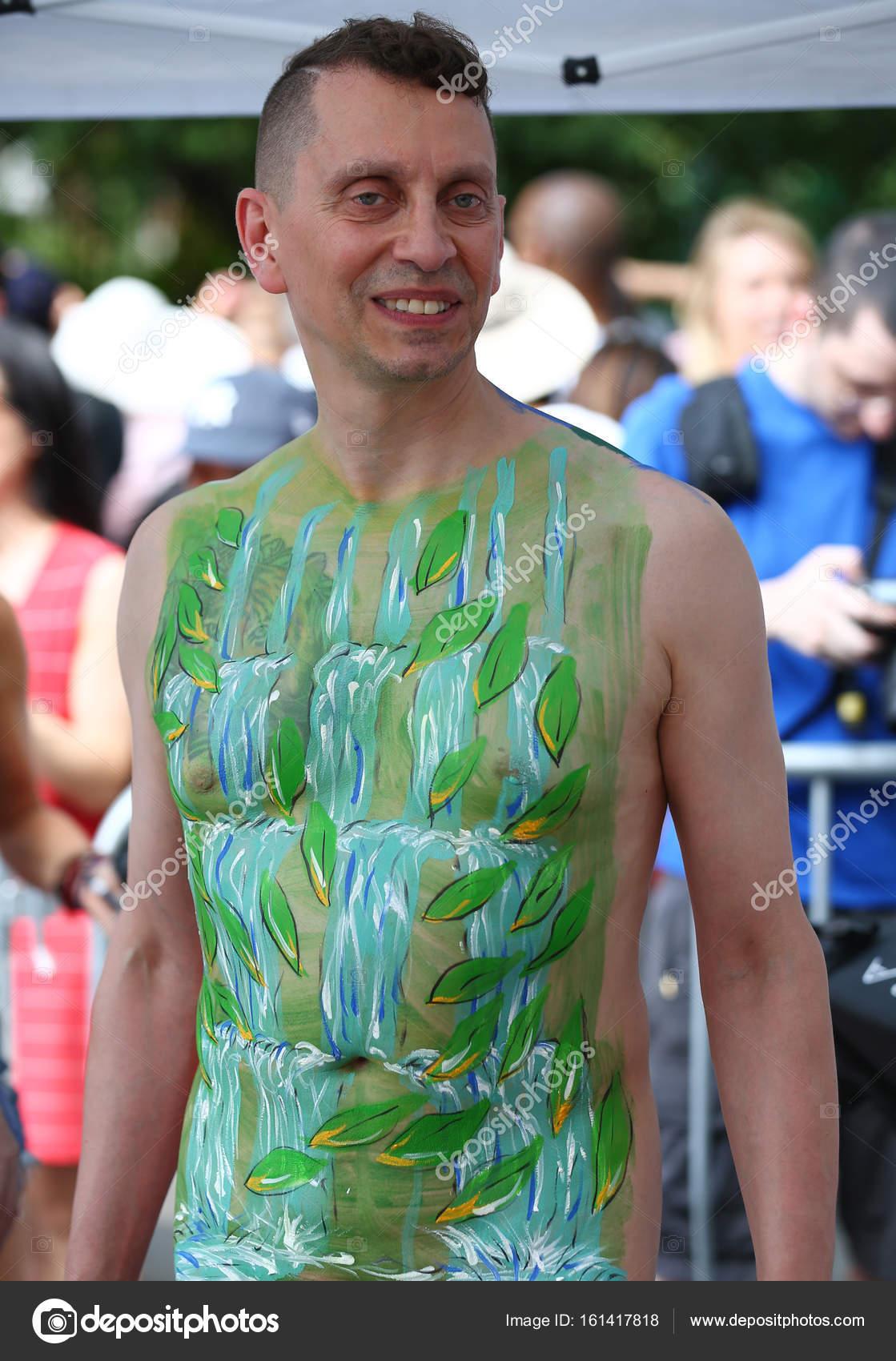 Nude body paint boy — 10