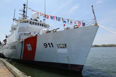United States Coast Guard Cutter Forward docked in Brooklyn Cruise Terminal during Fleet Week 2016