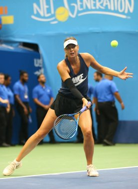 Five times Grand Slam Champion Maria Sharapova of Russian Federation practices for US Open 2017