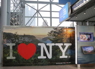 New York State promotional advertising during Photoplus conference and expo at Javits Convention Center
