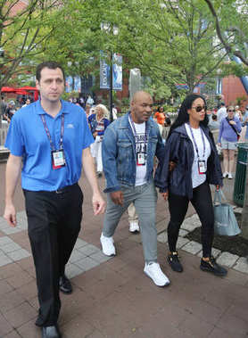 Former boxing champion Mike Tyson with family attend US Open 2017 opening day at USTA Billie Jean King National Tennis Center