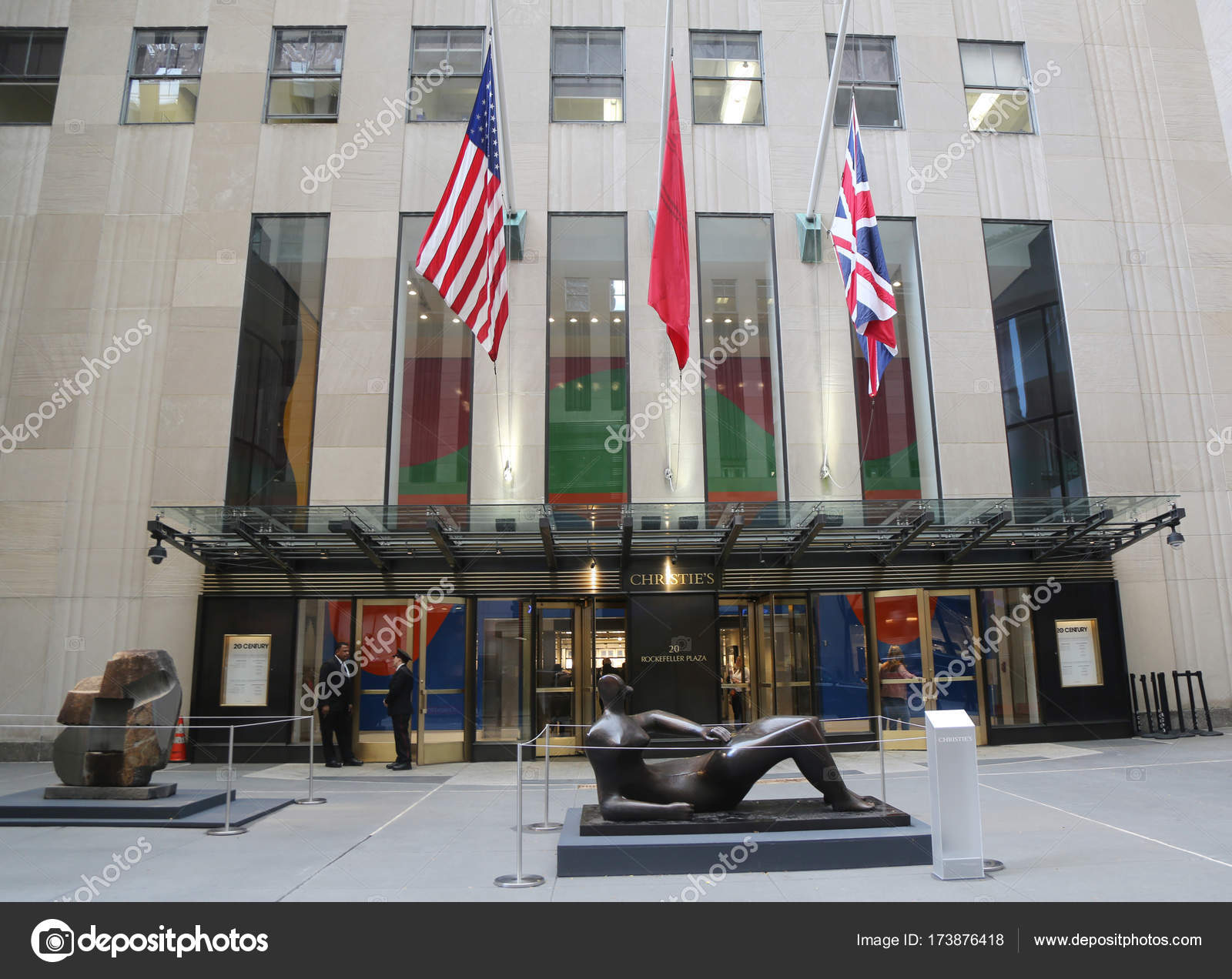 Christies Main Headquarters At Rockefeller Plaza In New York Stock Photo