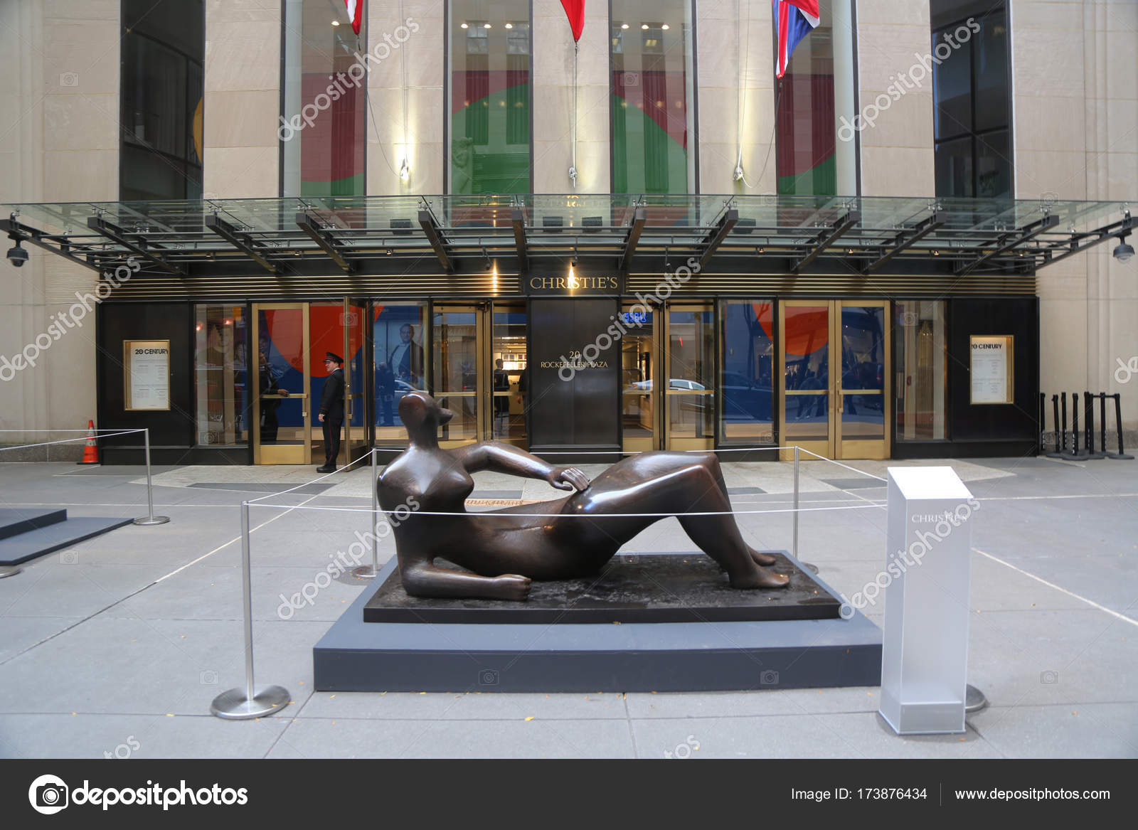 Christies Main Headquarters At Rockefeller Plaza In New York Stock Editorial Photography