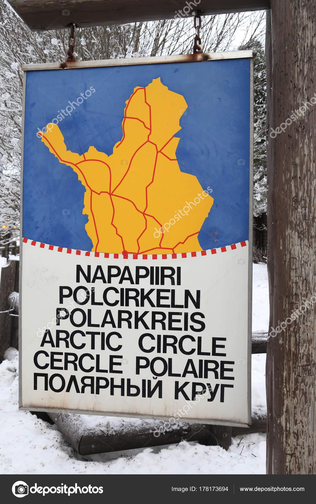 rovaniemi finland february 2017 arctic circle line santa claus