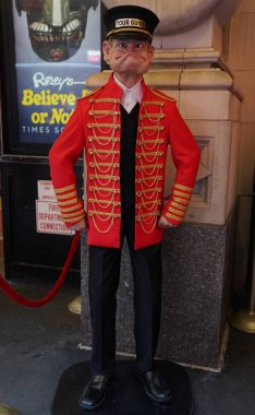 NEW YORK - DECEMBER 19, 2017:  Madame Tussauds museum in New York. Madame Tussauds New York is a wax museum located on 42nd Street close to Times Square in New York City.
