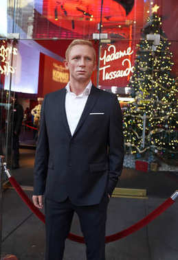 NEW YORK - DECEMBER 19, 2017: Daniel Craig as the agent 007 James Bond in Madame Tussauds museum in New York