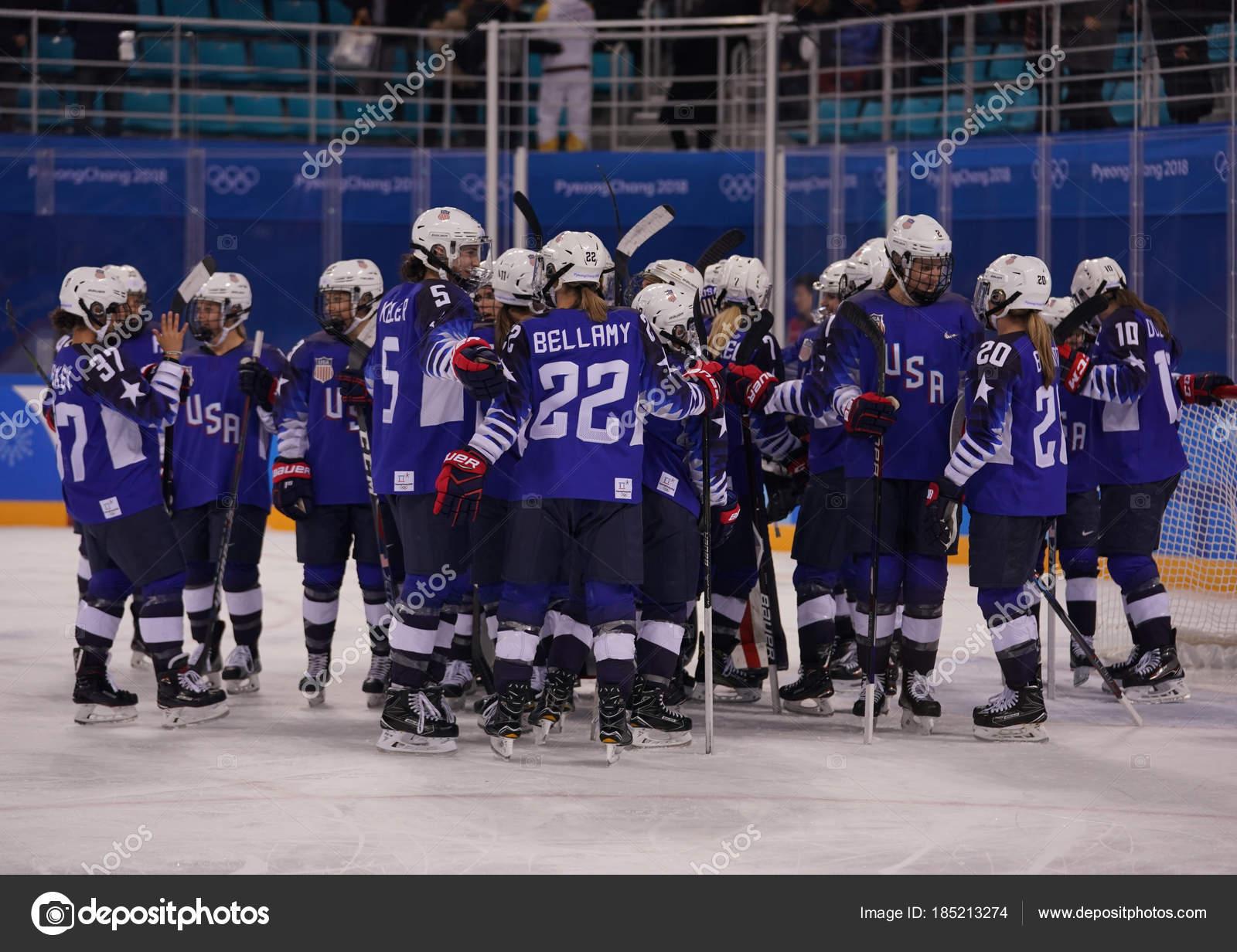 692eabe3eb39 Kwandong Νότια Κορέα Φεβρουαρίου 2018 Ολυμπιονίκης Ομάδα Ηπα ...
