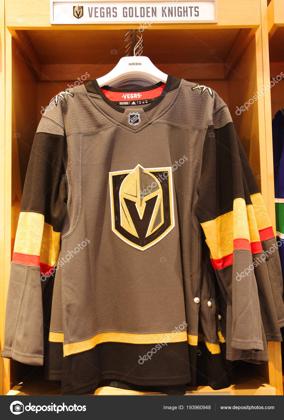 low priced 790e7 5d37e New York April 2018 Vegas Golden Knights Jersey Display Nhl ...