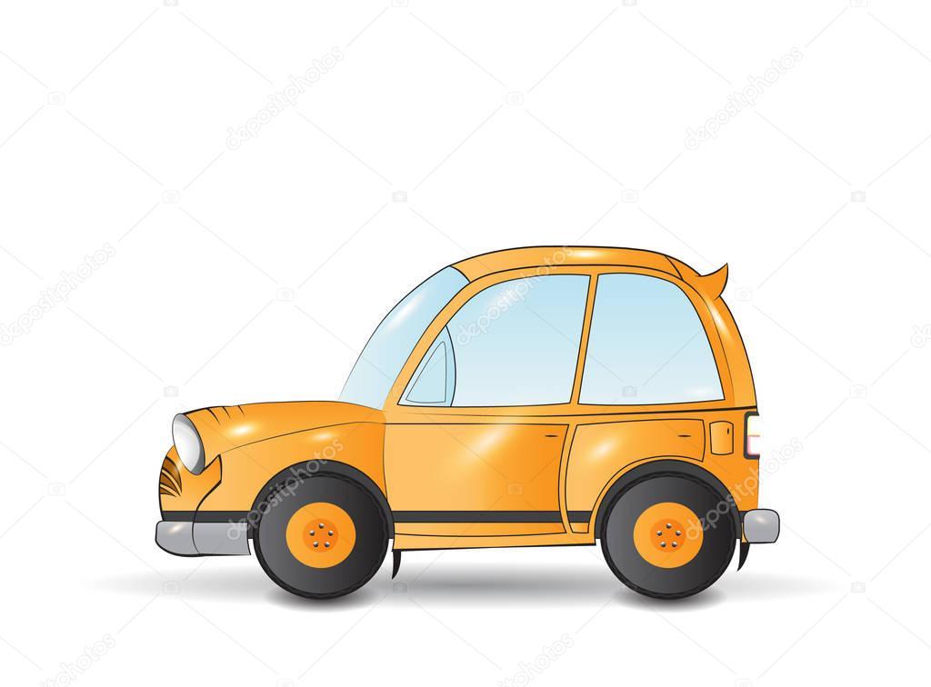 carro de desenho animado amarelo vetor de stock nopember3079