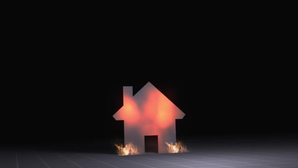 House Icon on Fire - Home Owners Insurance conept