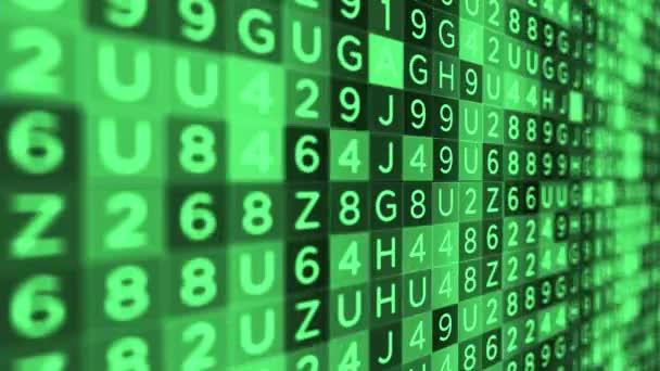 Green Letter Number Background Flickering Fast Software Algorithm Concept  Alt