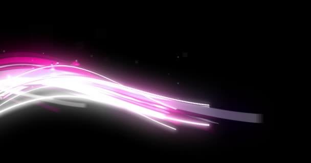 Růžový Romantický živé proudění částic Aura nad černou
