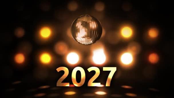 2027 Silvesterfeier Hintergrund Spinnen Disco Ball Nachtclub