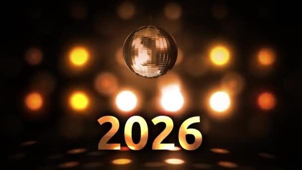 2026 Silvesterfeier Hintergrund Spinnen Disco Ball Nachtclub