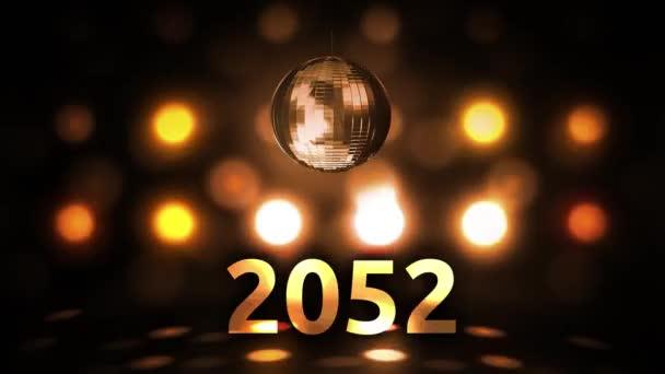2052 Silvesterfeier Hintergrund Spinnen Disco Ball Nachtclub