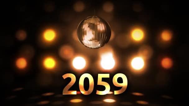 2059 Silvesterfeier Hintergrund Spinnen Disco Ball Nachtclub