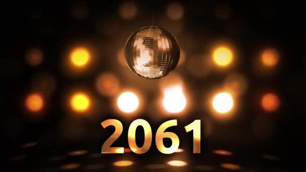 2061 Silvesterfeier Hintergrund Spinnen Disco Ball Nachtclub