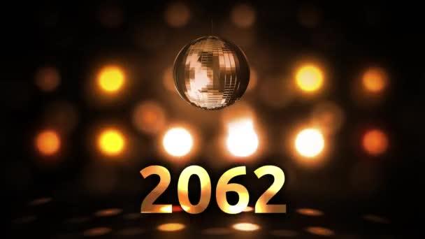 2062 Silvesterfeier Hintergrund Spinnen Disco Ball Nachtclub