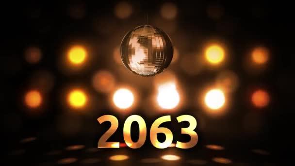 2063 Silvesterfeier Hintergrund Spinnen Disco Ball Nachtclub