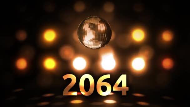 2064 Silvesterfeier Hintergrund Spinnen Disco Ball Nachtclub