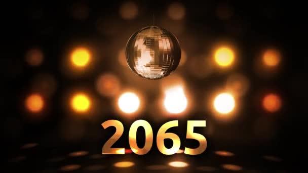 2065 Silvesterfeier Hintergrund Spinnen Disco Ball Nachtclub