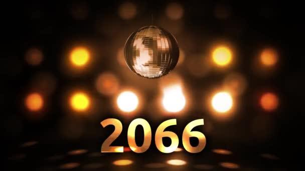 2066 Silvesterfeier Hintergrund Spinnen Disco Ball Nachtclub
