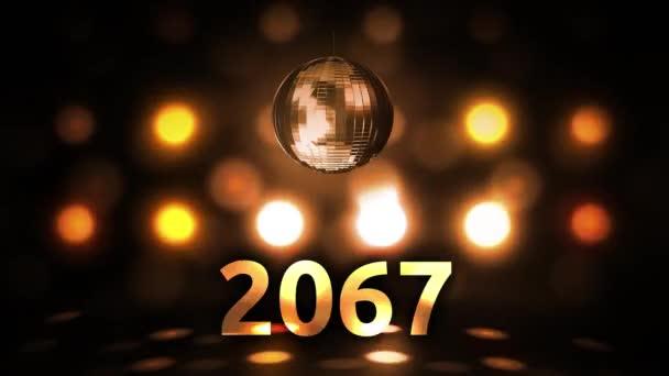 2067 Silvesterfeier Hintergrund Spinnen Disco Ball Nachtclub