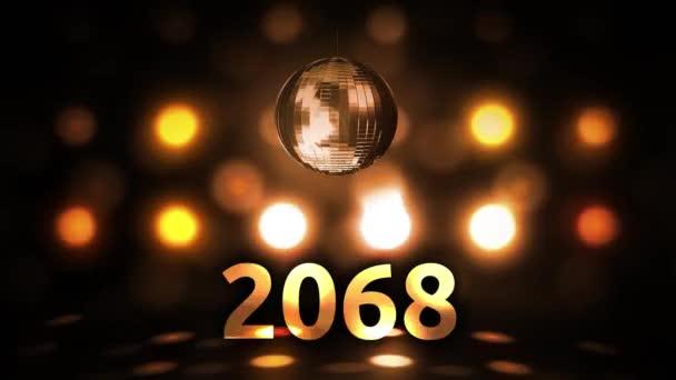 2068 Silvesterfeier Hintergrund Spinnen Disco Ball Nachtclub