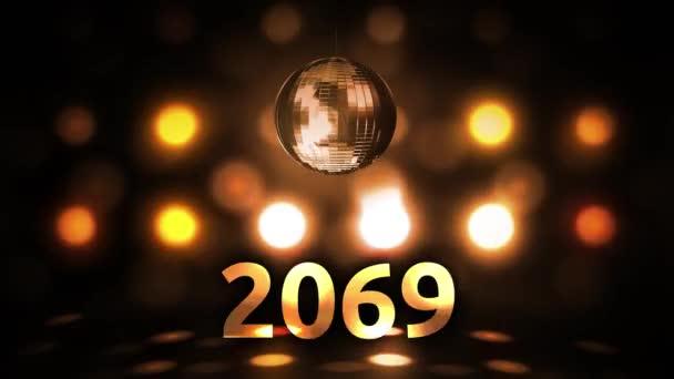 2069 Silvesterfeier Hintergrund Spinnen Disco Ball Nachtclub