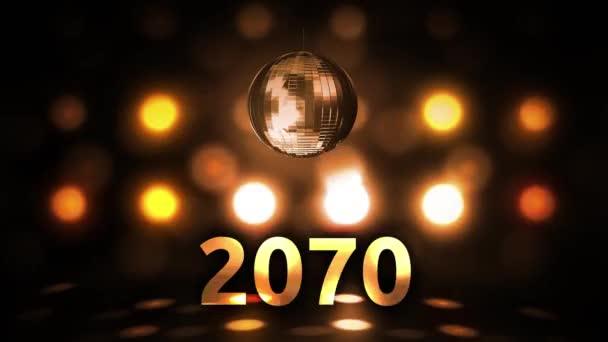 2070 Silvesterfeier Hintergrund Spinnen Disco Ball Nachtclub