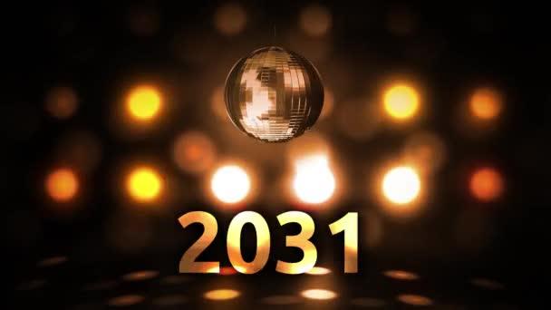 2031 Silvesterfeier Hintergrund Spinnen Disco Ball Nachtclub