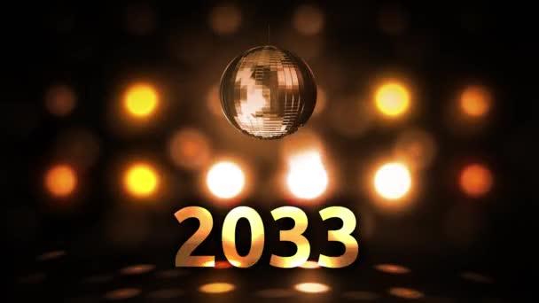 2033 Silvesterfeier Hintergrund Spinnen Disco Ball Nachtclub