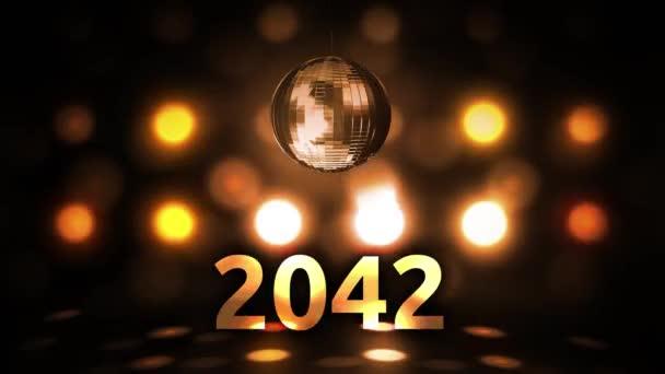 2042 Silvesterfeier Hintergrund Spinnen Disco Ball Nachtclub