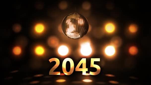 2045 Silvesterfeier Hintergrund Spinnen Disco Ball Nachtclub