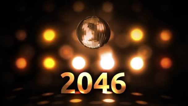 2046 Silvesterfeier Hintergrund Spinnen Disco Ball Nachtclub