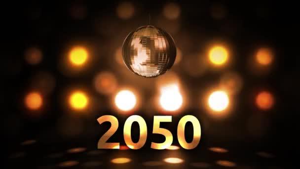 2050 Silvesterfeier Hintergrund Spinnen Disco Ball Nachtclub