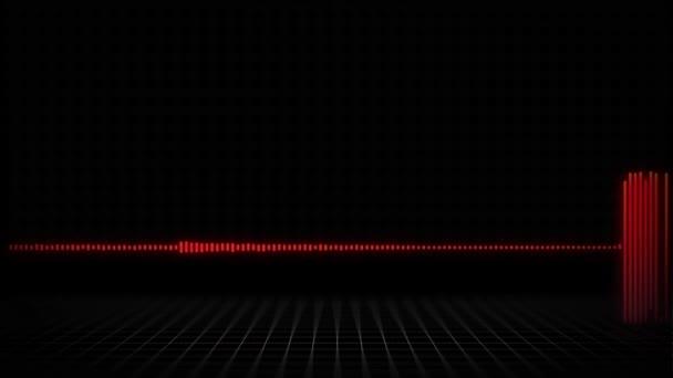 Zvukového vlnění nebo spektra pozadí pro reklamy - 30 vteřin - červená verze