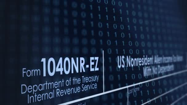 Filing a 1040NR-EZ Tax Form Online for the IRS