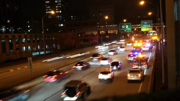 Time Lapse Traffic Trying Get Accident Highway Urban City Medium ...