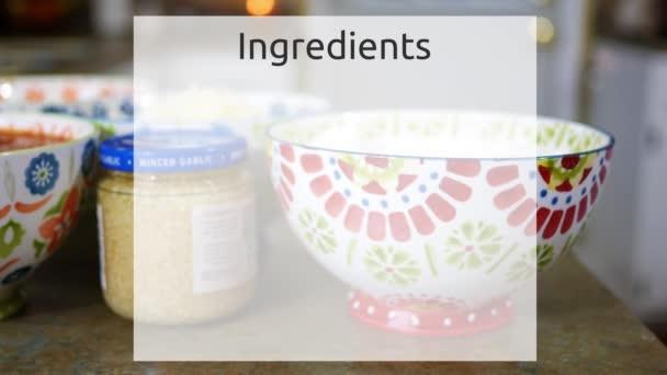 Prázdný seznam přísad vaření pozadí s kuchyně potraviny