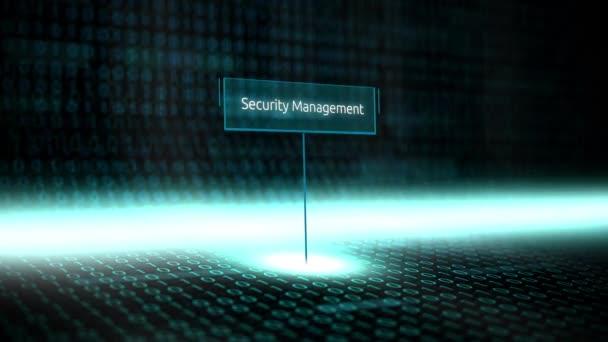 Software per Digital paesaggio definito tipografia con codice binario futuristico - gestione della sicurezza