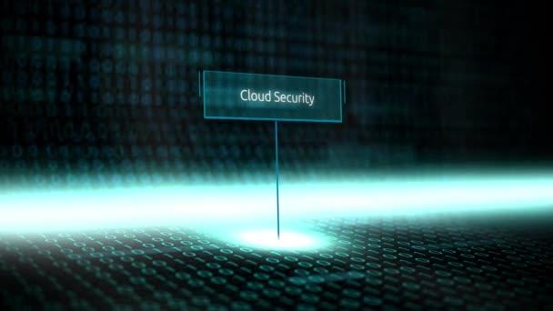 Digitální krajiny softwarově definované typografie s futuristickou binárního kódu - Cloud Security