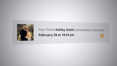 Generic Social Media Pop-Up Notification - Commented on your post ALT