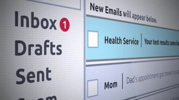 Generic Email New Inbox Message - Sexual health and wellness email test  results - negative